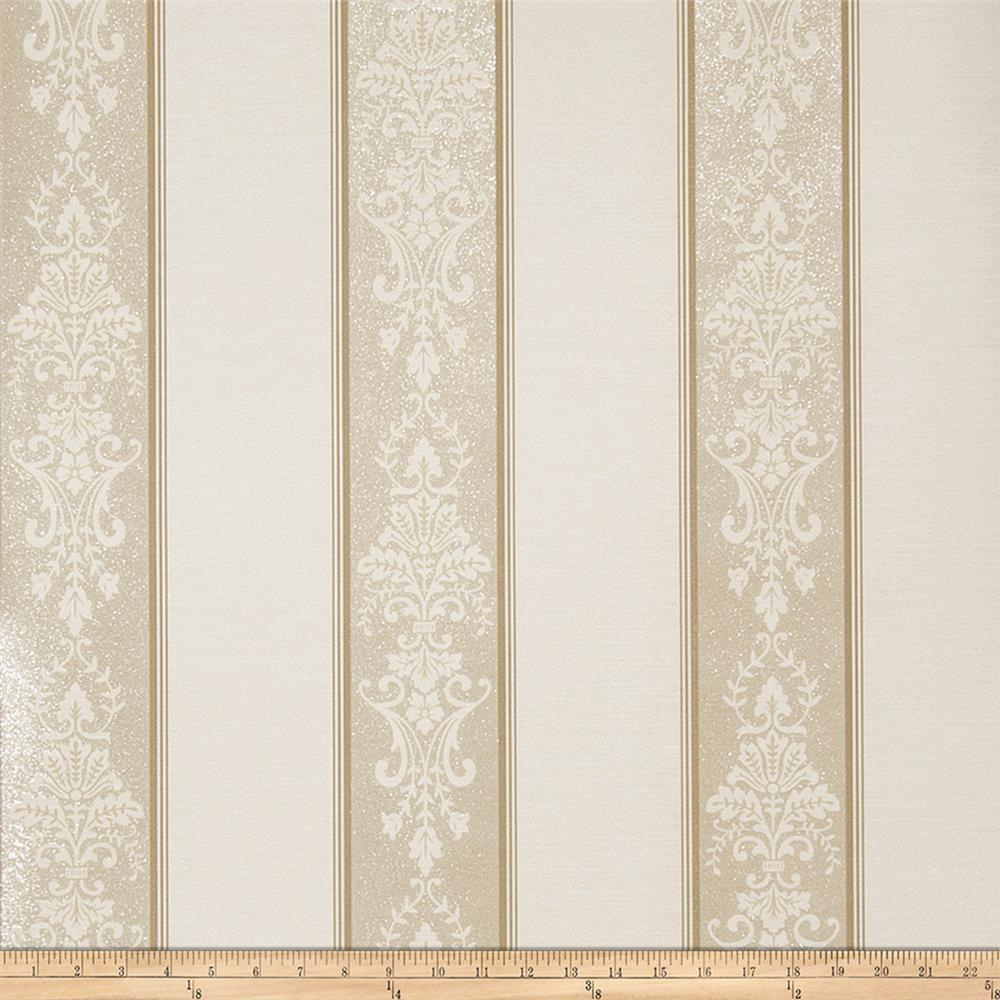 Fabricut Kelley Wallpaper Taupe (Double Roll)
