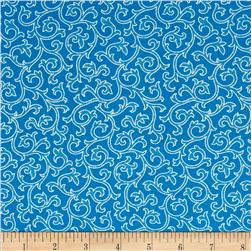 Daisy Mae Joy True Blue Fabric