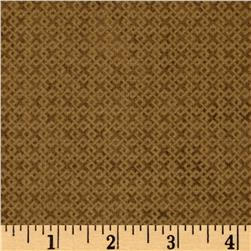 Criss Cross Flannel Golden Brown