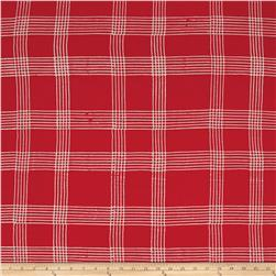 Alison Glass Handcrafted Batiks Chroma Plaid Poppy