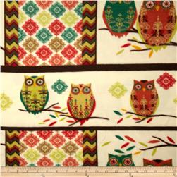 Holiday Hoot Fleece Hoot Red/Green Fabric