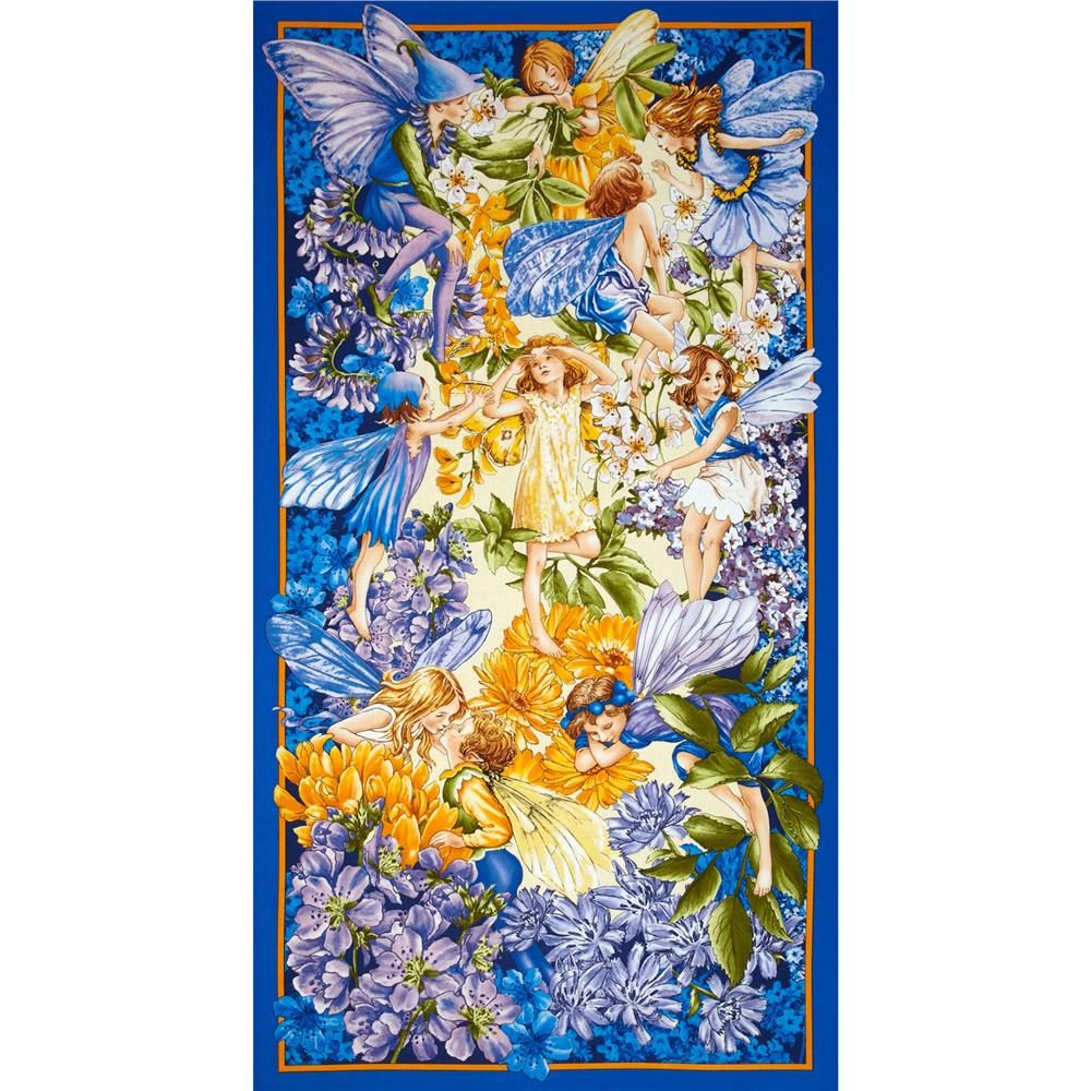 "Michael Miller Flower Fairies Dawn Till Dusk 24"" Panel Nite"
