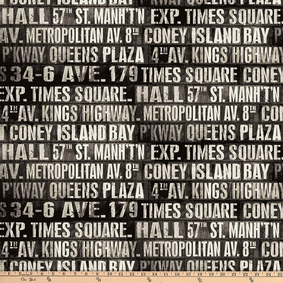 Tim Holtz Eclectic Elements Subway Signs Taupe