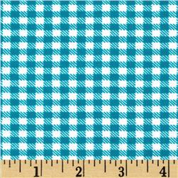 Aunt Polly's Flannel Gingham Teal/White