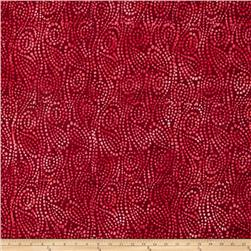 Wilmington Batiks Swirl Chase Cherry Red