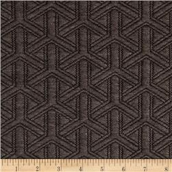 Quilted Double Knit Y Shapes Charcoal Heather