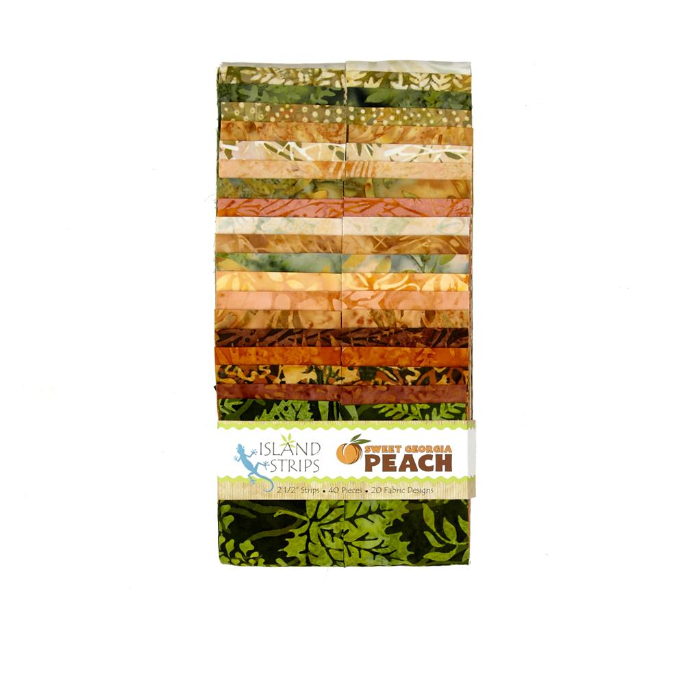 "Island Batik Sweet Georgia Peach 2.5"" Strip Pack"