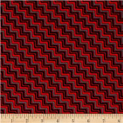 Graphix 3 Chevron Dark Red/Black