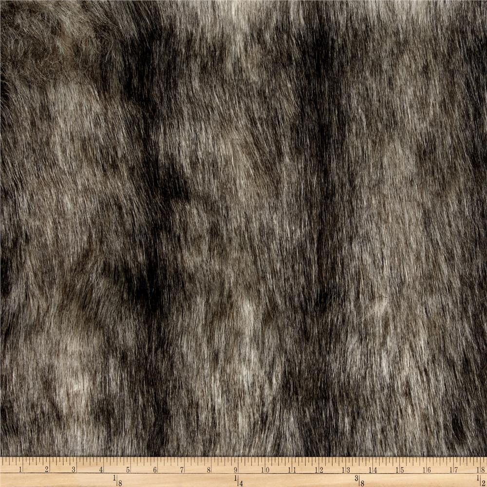 Luxury Faux Fur Eurasian Lynx Fur Beige/Black