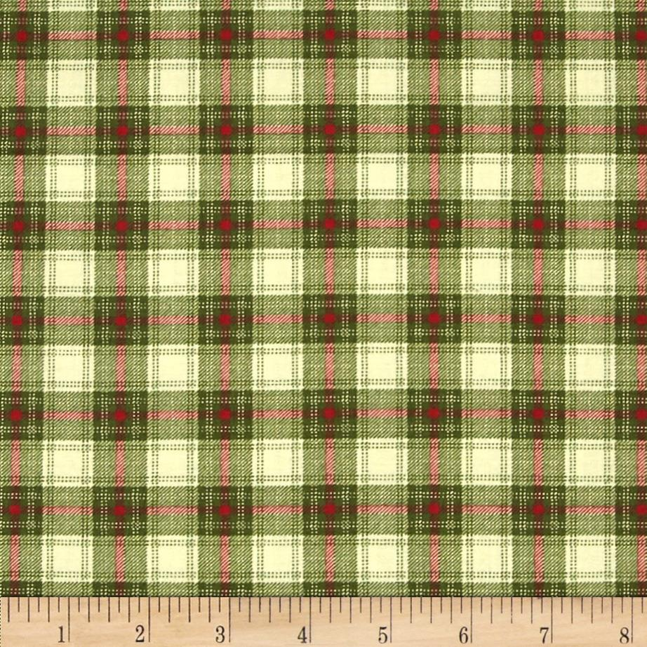 Moda Very Merry Plaid Pine
