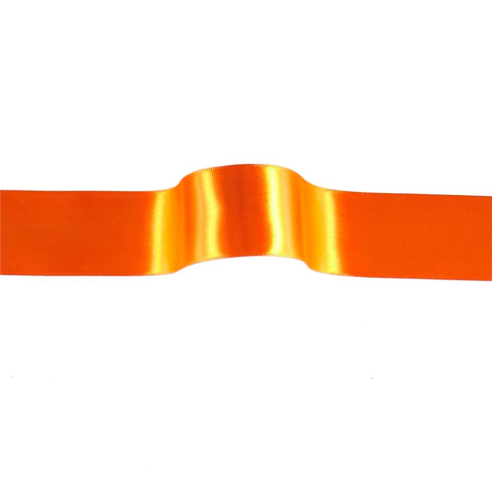 "1 1/2"" Offray Single Face Satin Ribbon Orange"