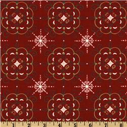Moda Nature's Gift Damask Berry Red