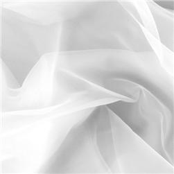 Nylon Chiffon Tricot White Fabric