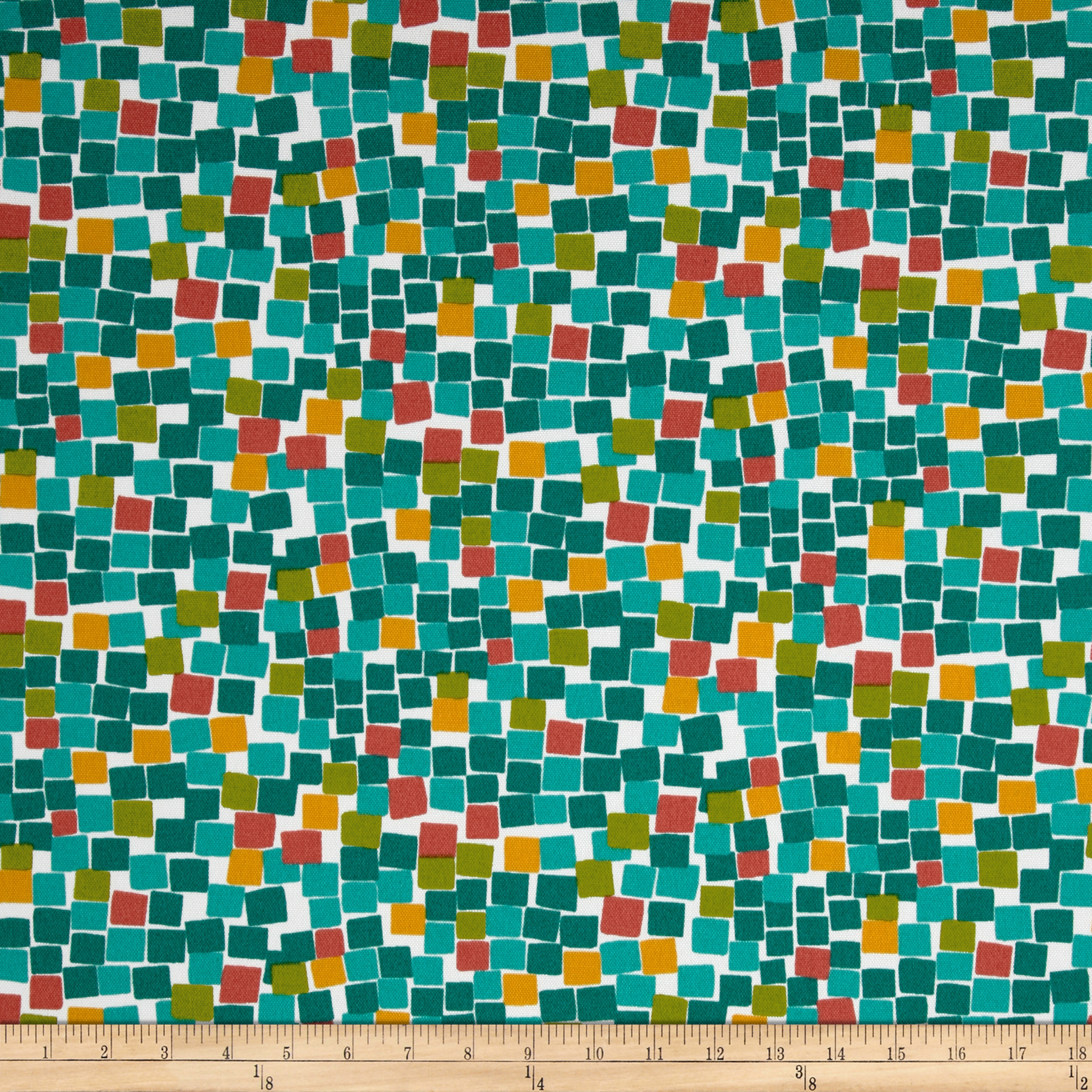 Maco Indoor/Outdoor Cubix Lagoon Fabric