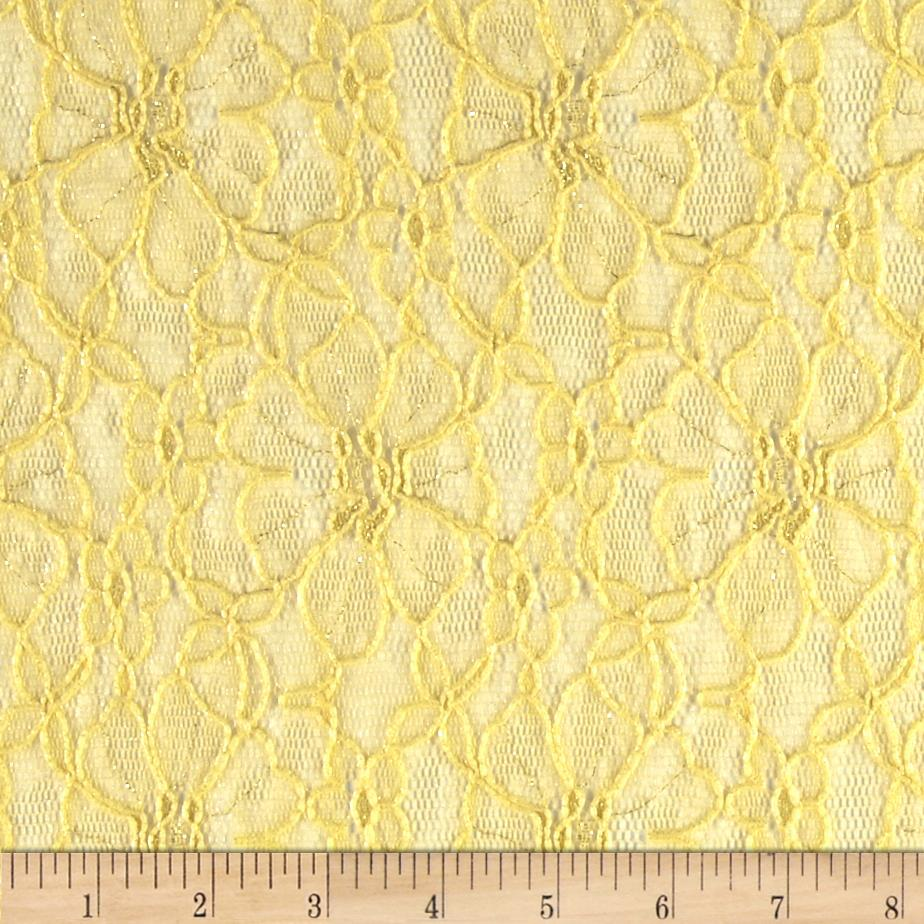 Metallic Lace Floral Yellow