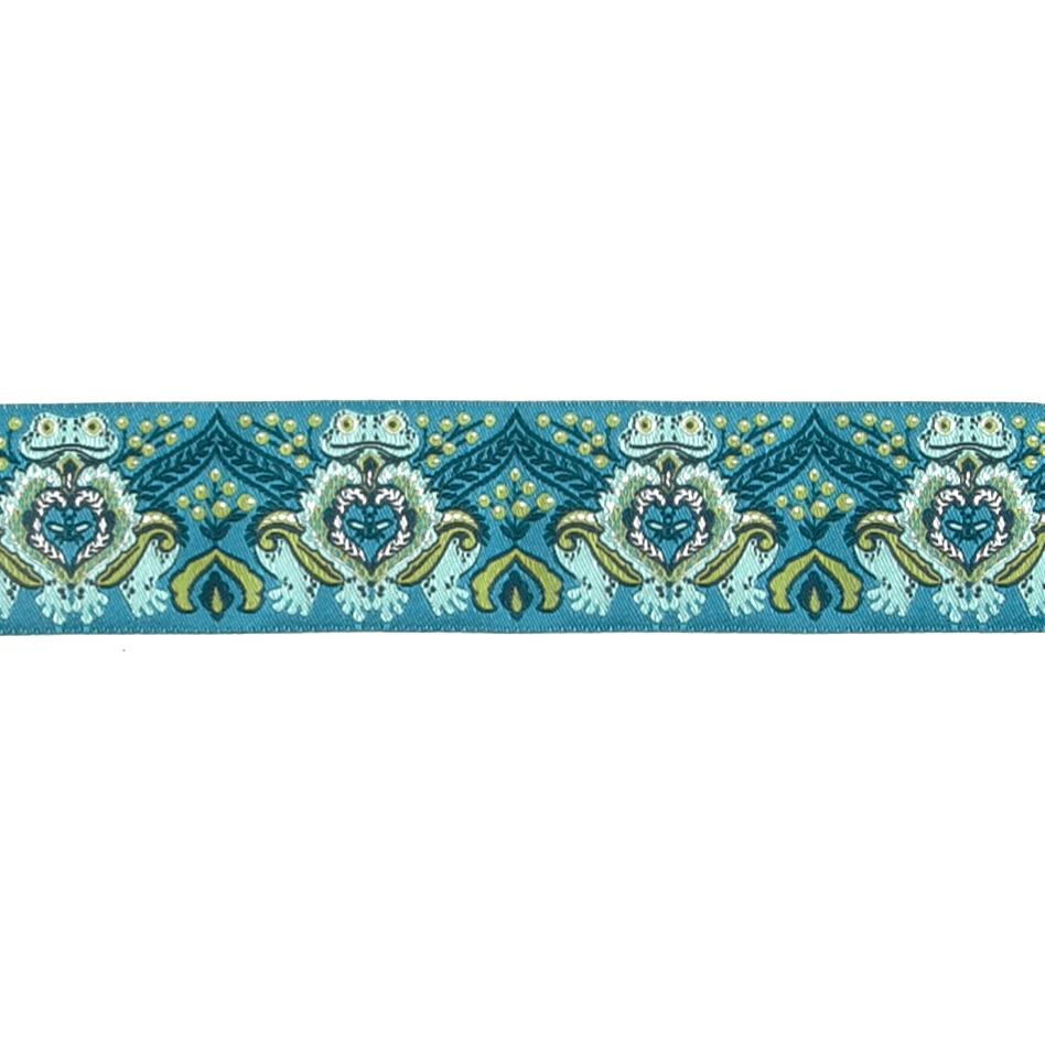 "1 1/2"" Tula Pink Prince Charming Ribbon Blue"
