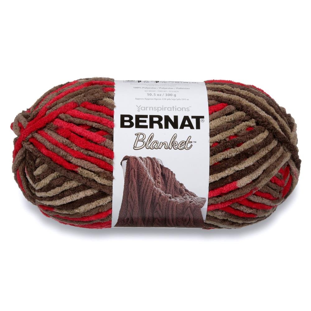 Knitting Patterns Bernat Blanket Yarn : Bernat Blanket Big Ball Yarn (10422) Rasberry Trifle - Discount Designer Fabr...