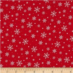 Under The Christmas Tree Snow Flakes Red