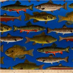 School of Fish Flannel Blue/Multi