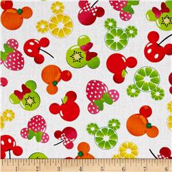 Disney Mickey and Friends Mickey Minnie Fruits White