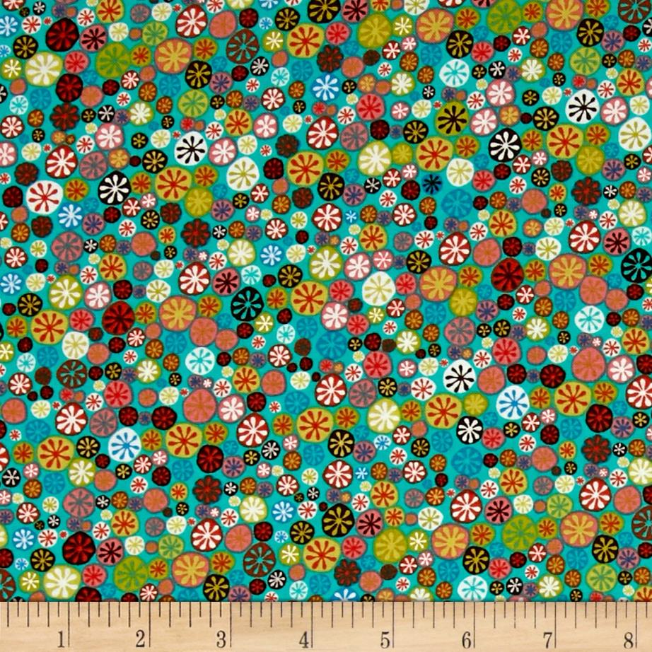 Windham Nod to Mod Happy Buttons  Teal