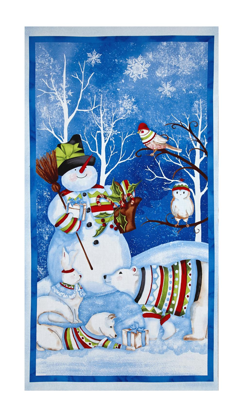 "Snowy Friends Large 23"" Panel Multi"