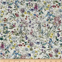 Liberty of London Wild Flowers Lawn White/Lavender