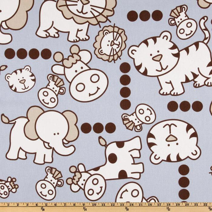 Premier Prints Jungle Babies Mist/Putty