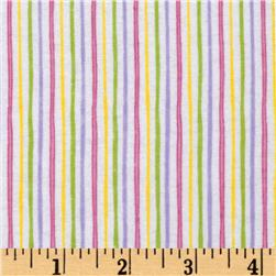 Alpine Flannel Stripe Pastel Fabric