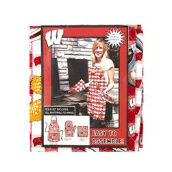 Collegiate BBQ Apron/Mit University of Wisconsin