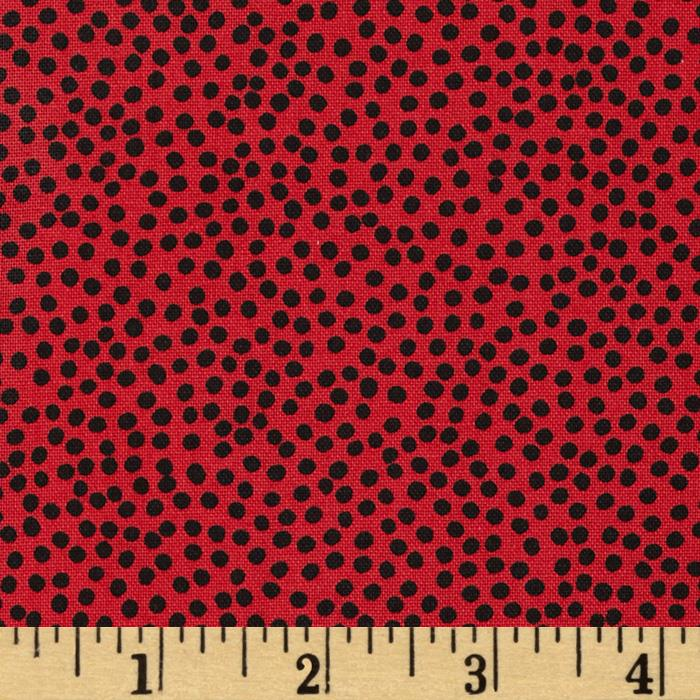 Loralie Church Ladies Bitty Dots Red