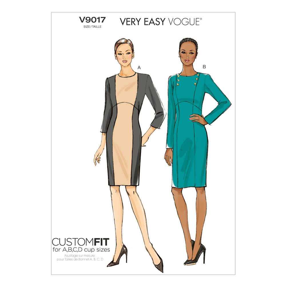 Vogue Misses' Dress Pattern V9017 Size A50
