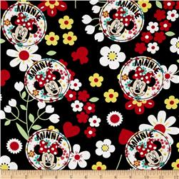 Disney Minnie Traditional Floral Toss Black