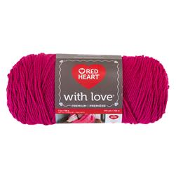 Red Heart Yarn With Love 1701 Hot Pink