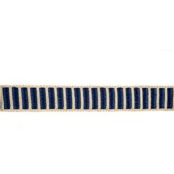 "Fabricut 1.5"" Winnowing Trim Navy"