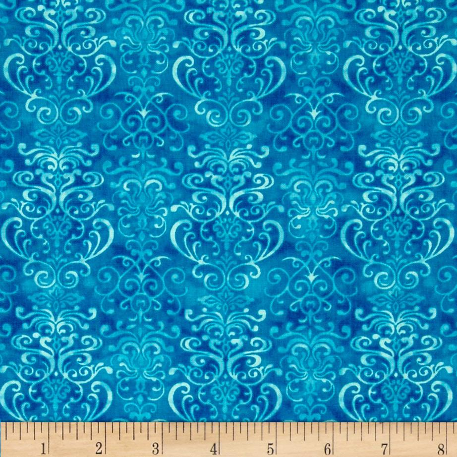 Winter Blues Scrolls Medium Blue