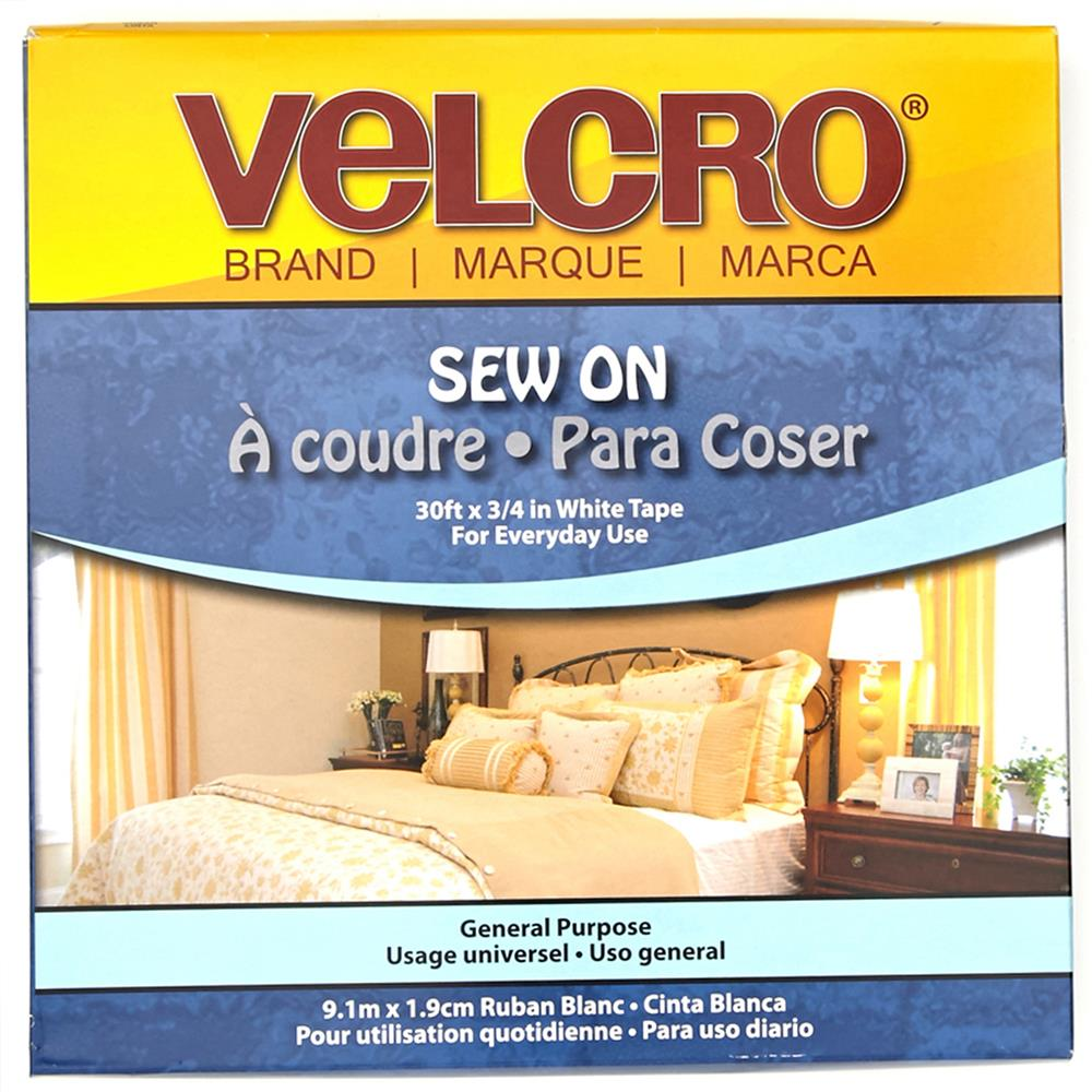 Velcro Brand Sew-On Tape 3/4'' White - By