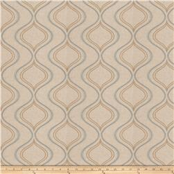 Fabricut Bone Ogee Linen Blend Waterfall