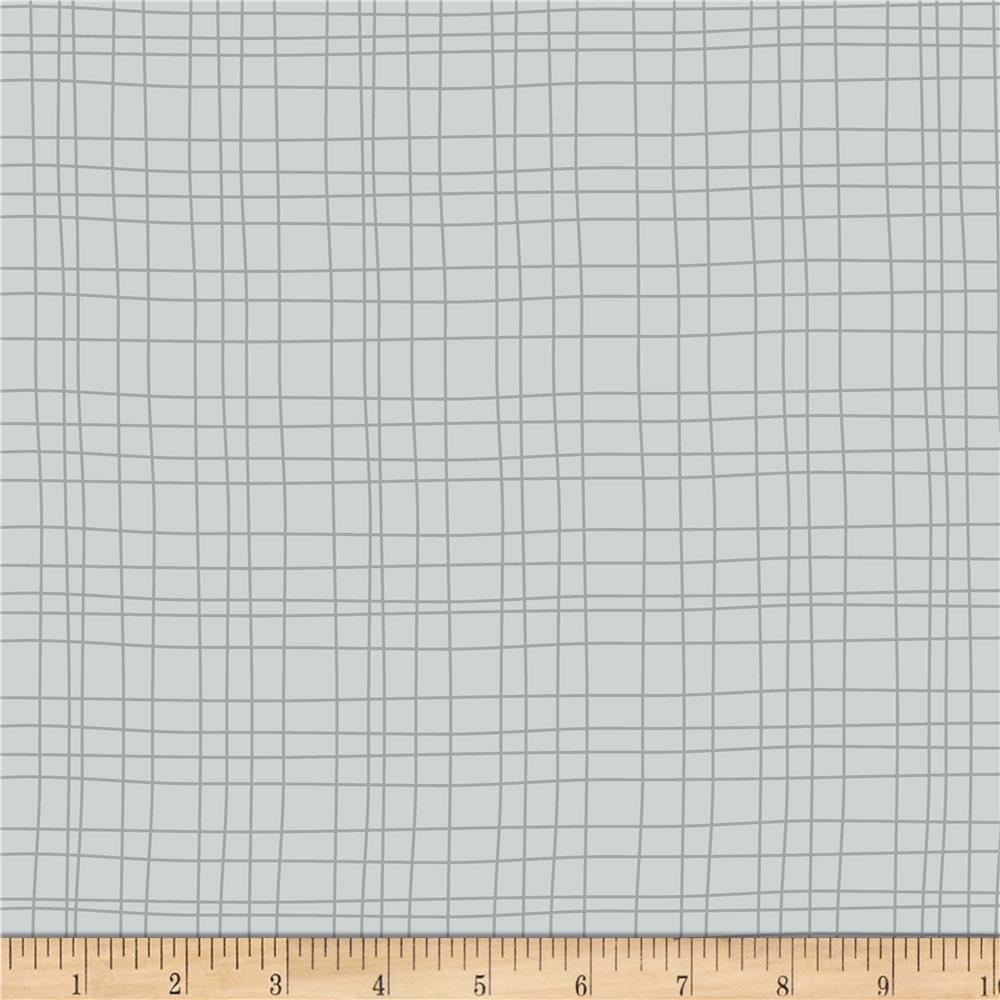 Sweet Meadow Flannel Grids Gray