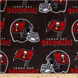NFL Fleece Tampa Bay Buccaneers Black Fabric