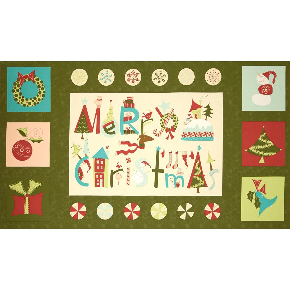 Moda Very Merry 24 In. Panel Pine