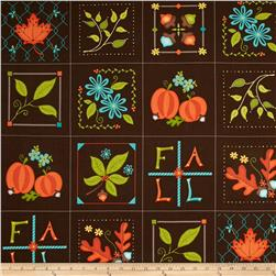 Home for Harvest Fall Squares Brown