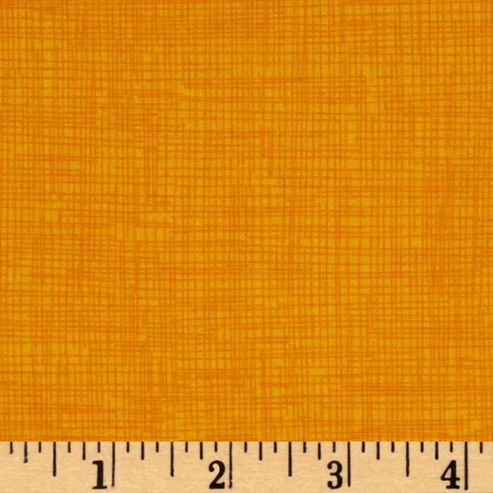 Timeless Treasures Sketch Flannel Sun Orange