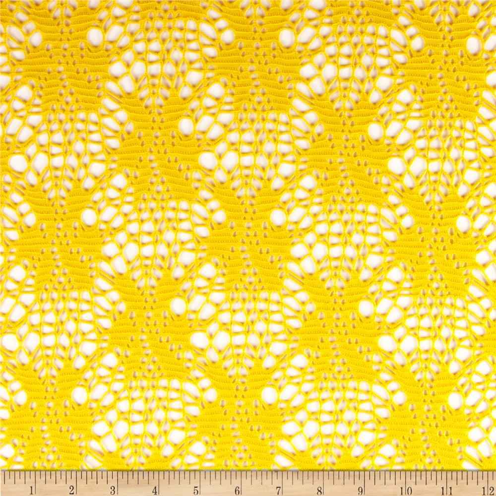 Floral Crochet Lace Yellow