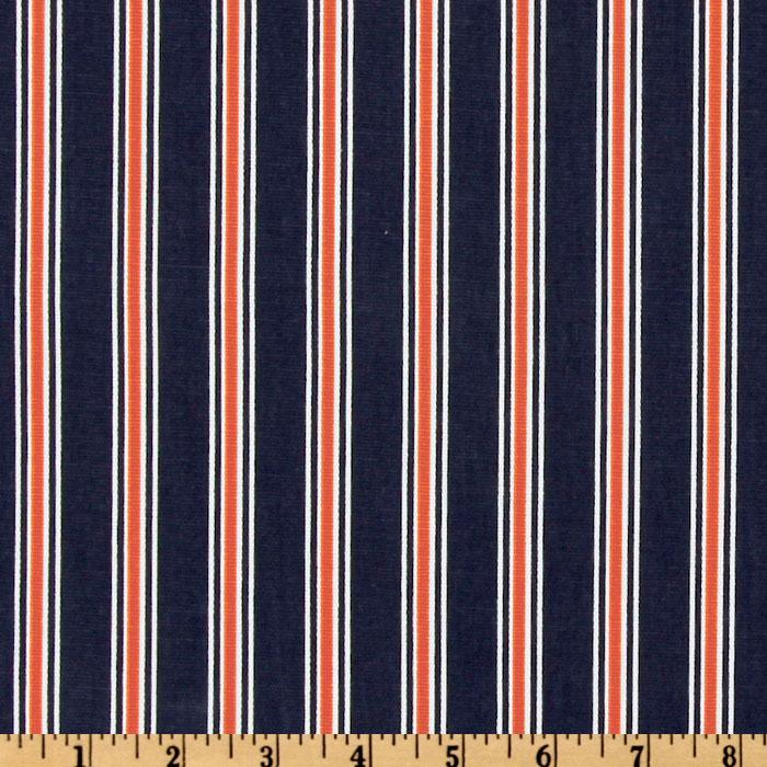 Premier Prints Trey Stripe Navy/Orange