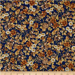 Kaufman London Calling Lawn Floral Earth