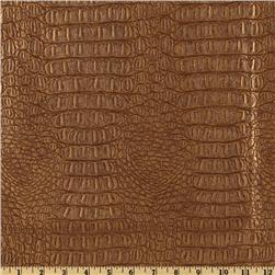 Faux Leather Fabric Gator Metallic Copper