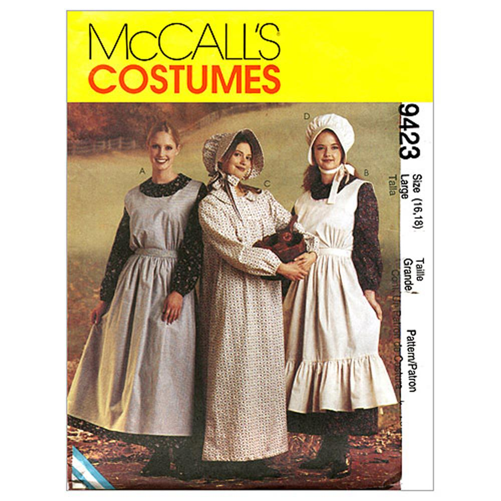 McCall's Misses' Pioneer Costumes Pattern M9423 Size LRG