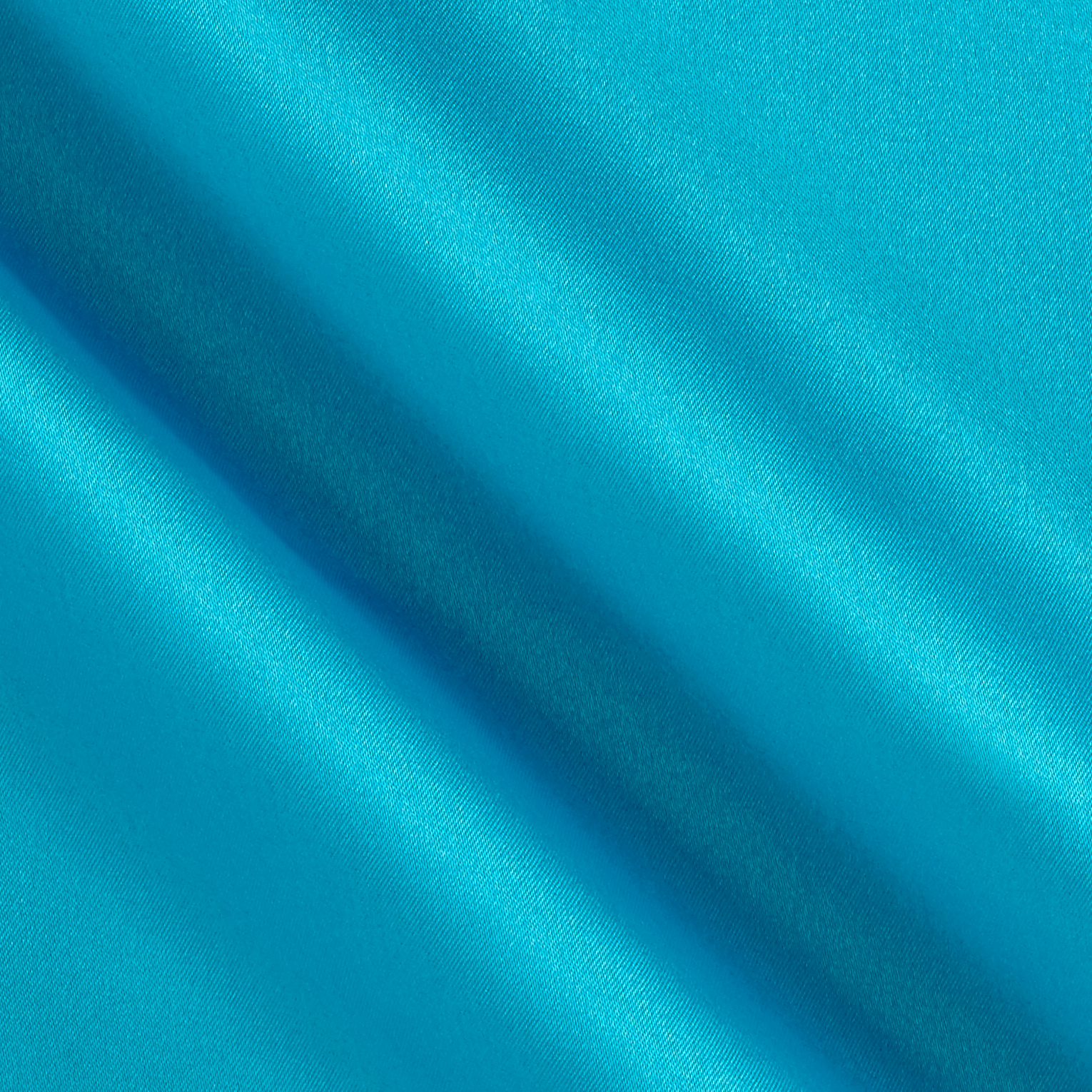 Debutante Stretch Satin Turquoise Fabric by Logantex in USA