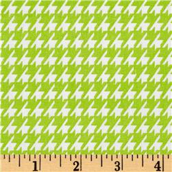 Dots and More Houndstooth Lime/White Fabric